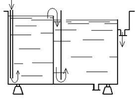 Корпус ванны двухкаскадной промывки