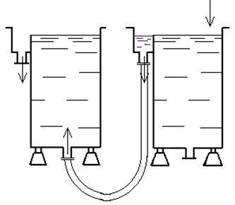 Схема соединения корпусов ванн промывки